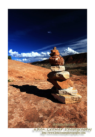 Trail marker, Arches National Park, Utah.