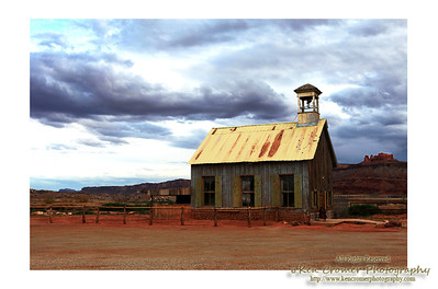 Not sure what this building used to be but i liked the colors.  This was 9 miles north of Moab Uta.