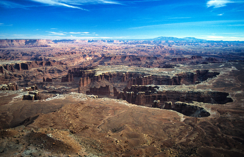 View of the White Rim Trail in Canyonlands National Park, Utah - November 1989