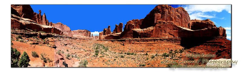 "Utah's Arches National Park - This area is called ""Park Avenue"" as the rock formations are said to resemble buildings."