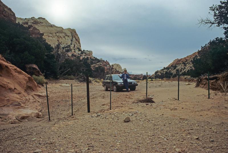 End of 4-Wheel Route - Capital Reef National Park, Utah - November 1988