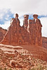 The Three Gossips, Arches National Park, Utah<br /> October 2009