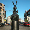The Thinker. Statue depicting a rabitlike figure..<br /> (made by Pim, aka: Prupert). Near 'Neude' square..
