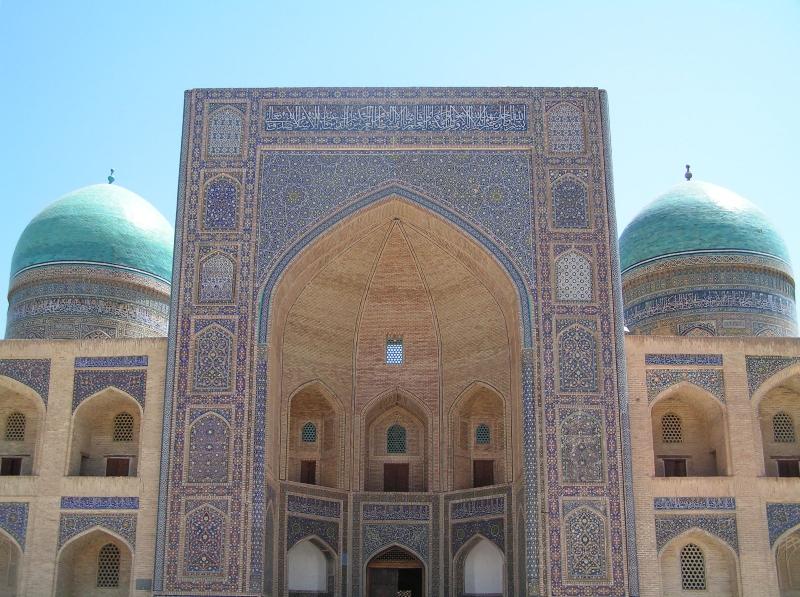 Entrada a la principal mezquita de Boukhara