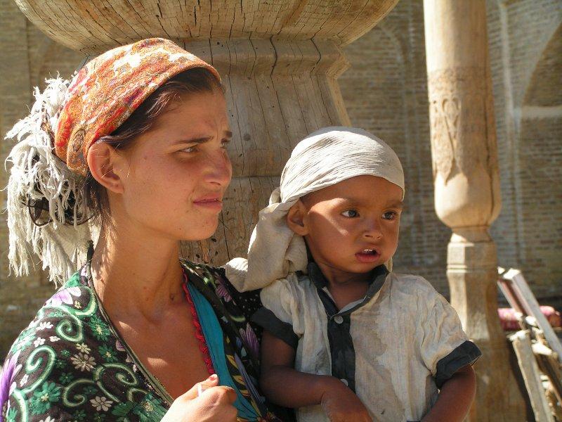 Pedigüeña en Boukhara
