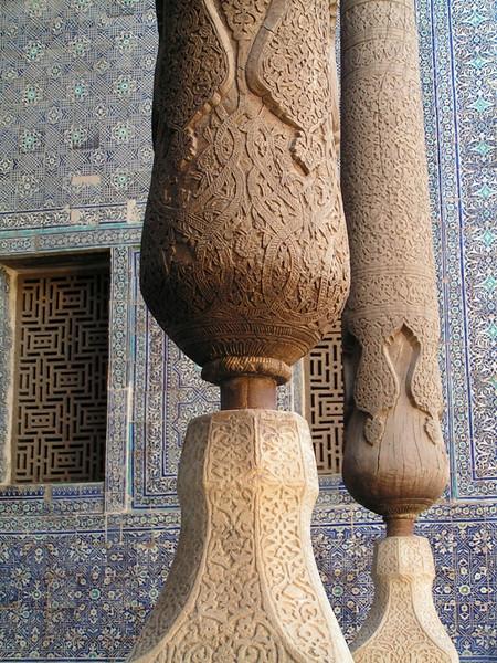 Columna perteneciente a uno de los palacios de Boukhara