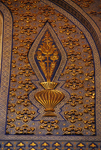 Wall decoration inside Gur-e Amir