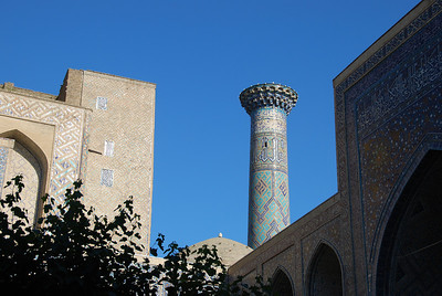 Minaret at the Registan.