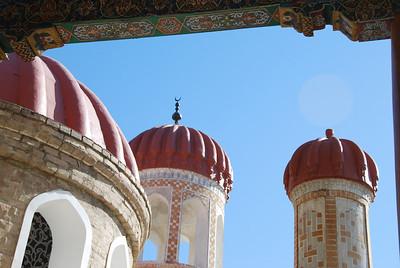The domes at Hijar Hizar mosque.