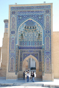 The entrance to the tomb of Tamerlane.