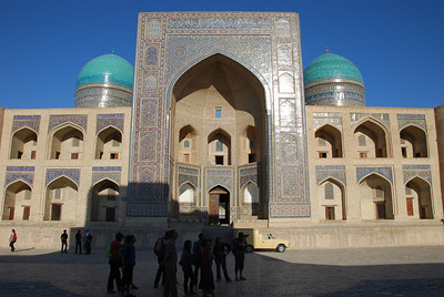 The Kalyan Mosque in Bukhara.  It was just 200 metres from our hotel.