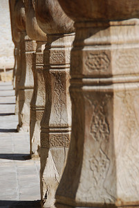 The pillars at Bolo Hauz.