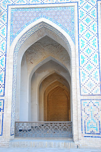 Inside the Kalon mosque in Bukhara.