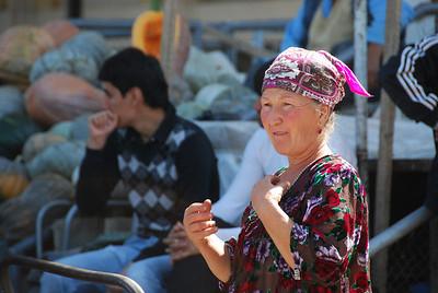 Local woman in the Samarkand bazaar.