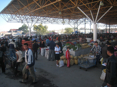 A small part of the bazaar in Samarkand.