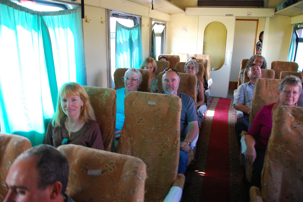 On the train from Samarkand to Bukhara.