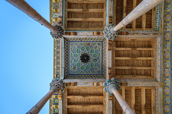 Ceiling detail of the Bolo Hauz Mosque || Bukhara