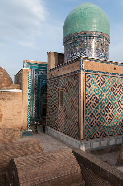 Shah-I-Zinda; 'avenue of mausoleums'. Samarkand, Uzbekistan