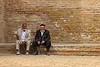 Men at palace of Timur, Shakhrisabz