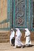 Pilgrims at Shakhizinda, Samarkand, Uzbekistan