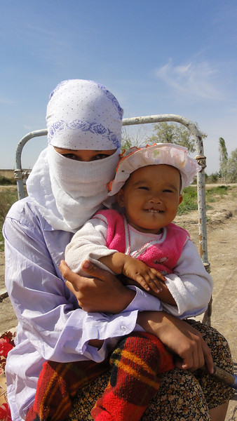 This woman waved us down to buy fuel. Karakalpakstan, Uzbekistan