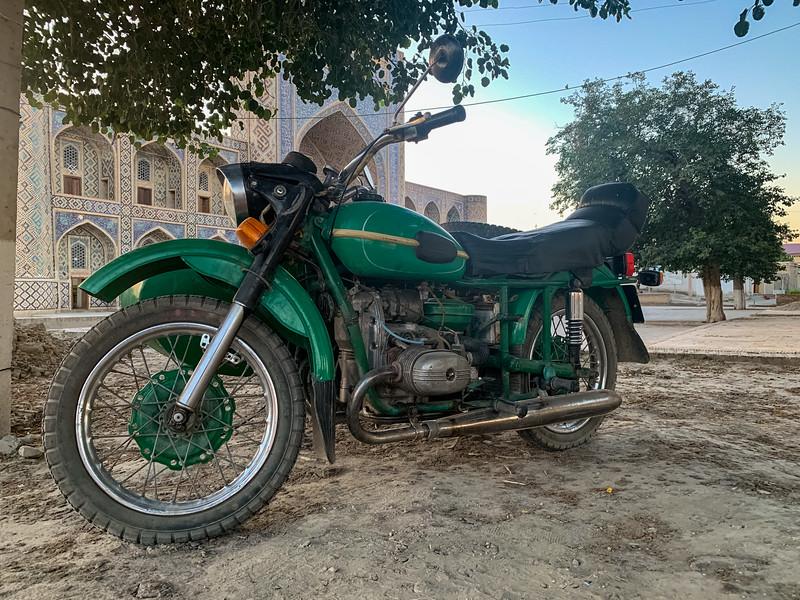 Motorcycle in Bukhara, Uzbekistan