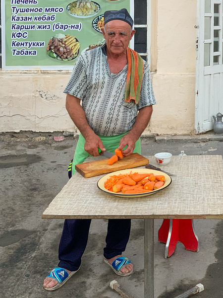 Old Man Preparing Plov