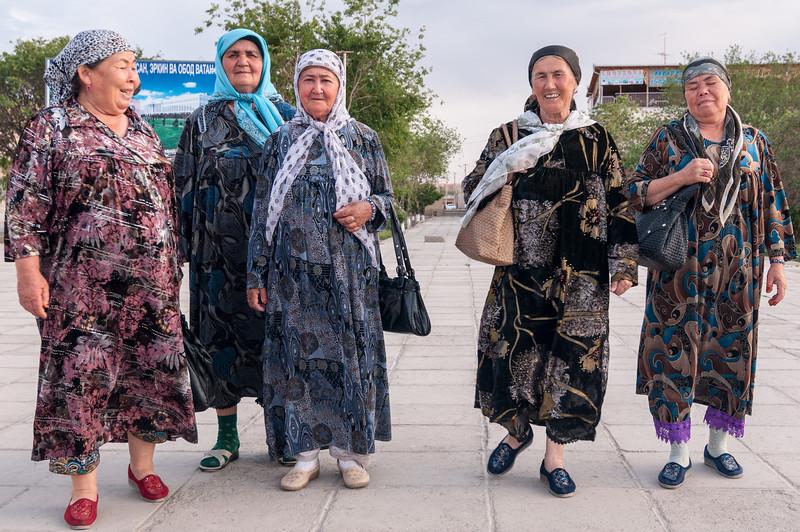 Ladies day out. Khiva, Uzbekistan