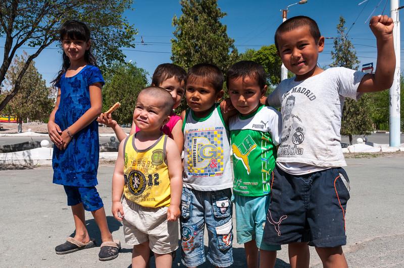 The local kids always wanted their photo taken. Khiva, Uzbekistan