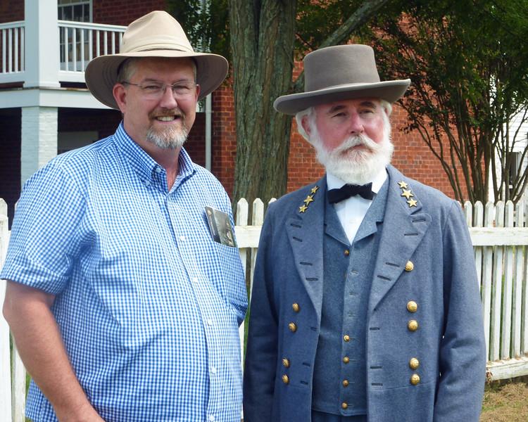 Robt E Lee re-enactor at Appomattox Court House