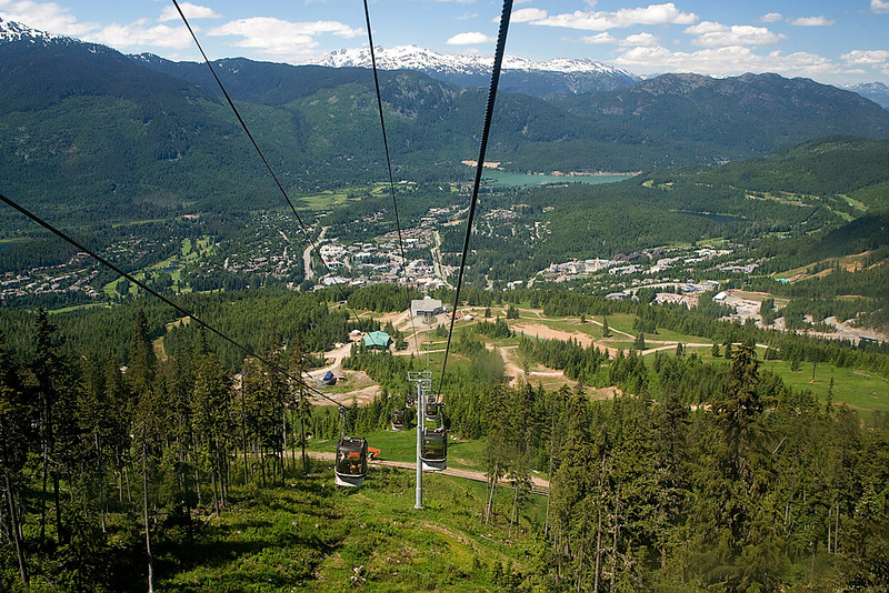 TRAM RIDE TO THE TOP OF WHISTLER MOUNTAIN