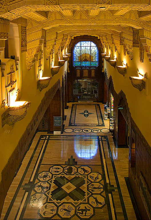 LOBBY OF THE MARINE BUILDING