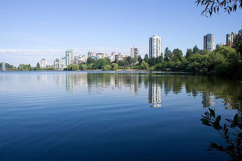 VIEW OF THE CITY FROM STANLEY PARK WALKING TRAIL