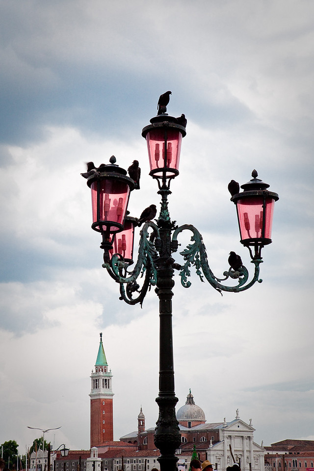 VENICE STREET LAMPS AT ST. MARK'S SQUARE