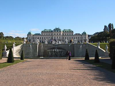 18-Central fountain, Upper Belvedere