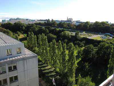 02-Upper Belvedere and gardens from Hotel Lindner, 7th floor