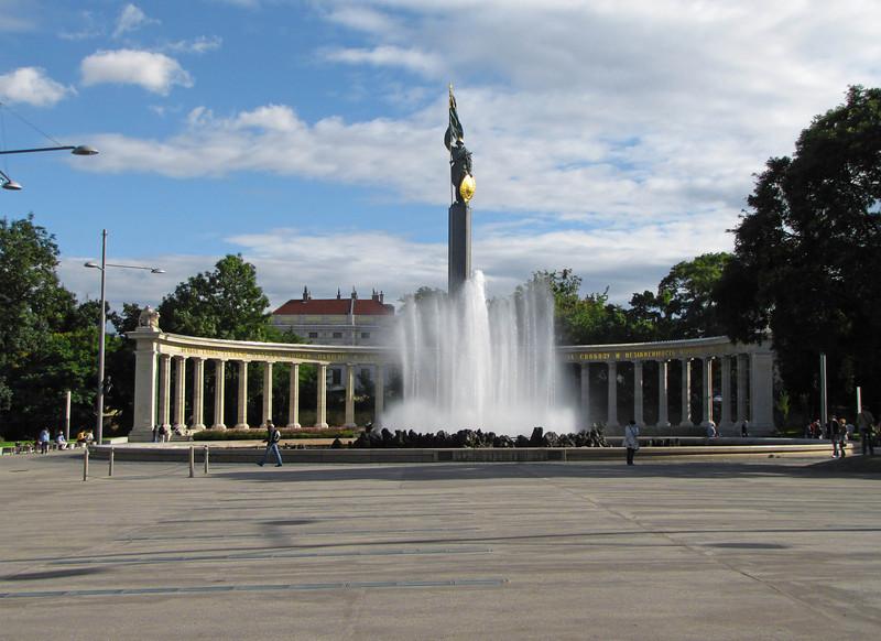 18-Liberation Monument of the Red Army in Schwarzenbergplatz–a reminder of Vienna's postwar history.