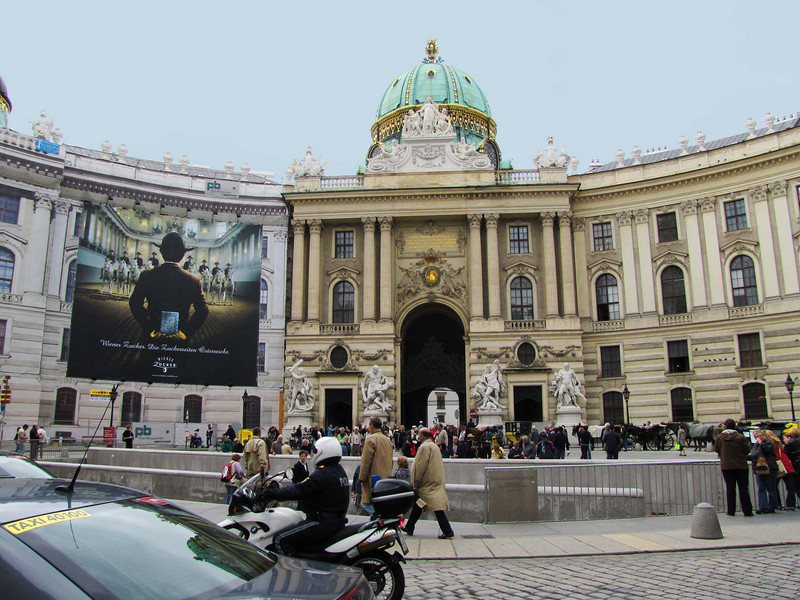 06-Hofburg Palace (former Imperial palace). The Michael Wing (18th century) seen from Michaeler Platz