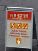 33-Sign for Film Festival, and there was a film that night. But it was a cold and rain-threatening day.