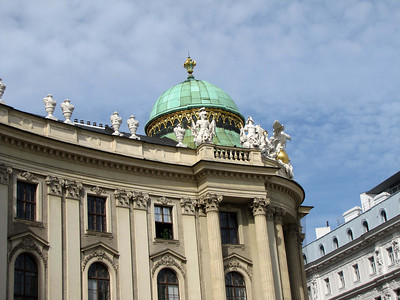 09-Hofburg Palace, dome and sculptures atop the National Library