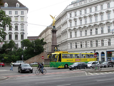 27-Monument to Andreas von Liebenberg, Karl Lueger Ring. Vienna and Budapest have these hop-on hop-off sightseeing buses (designated stops only).