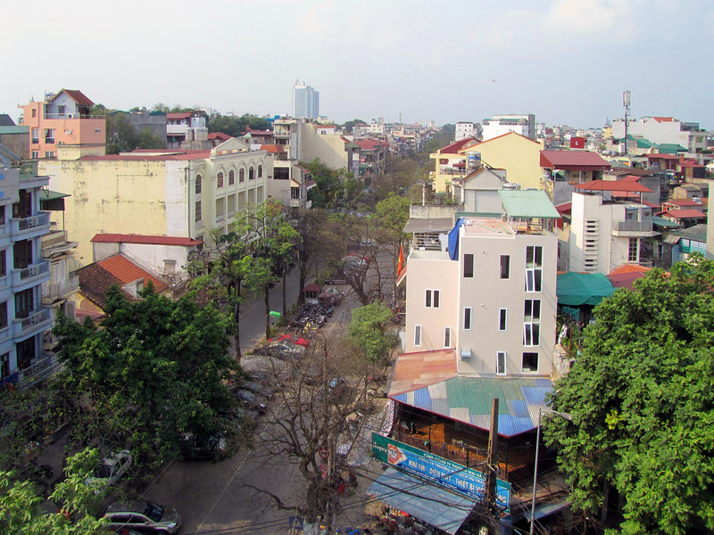 14-Back in Hanoi. Phung Hung Road from the hotel