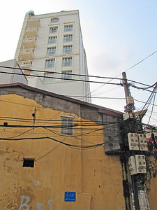 17-My hotel (alley view) and overhead wires