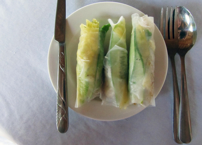 52-Resulting fish, cucumber, pineapple roll