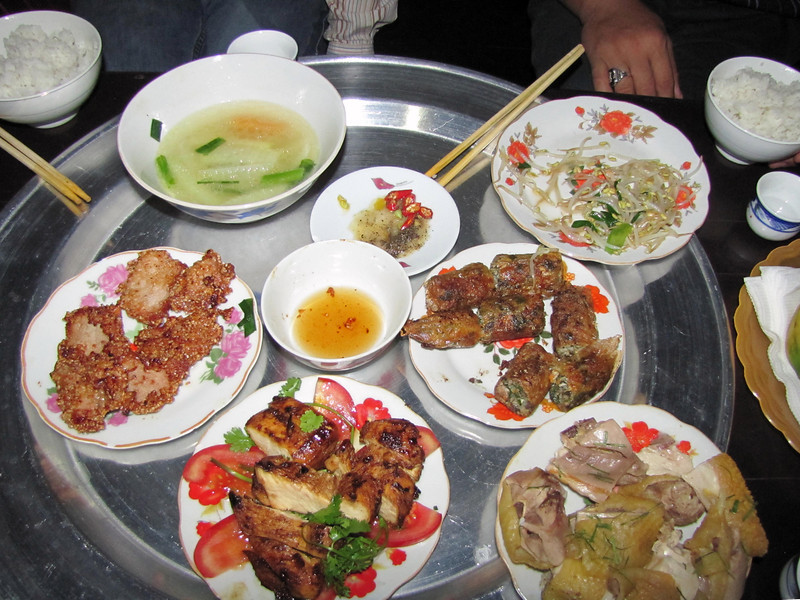 15-Half-eaten lunch in Duong Lam Village. Three persons, US$10