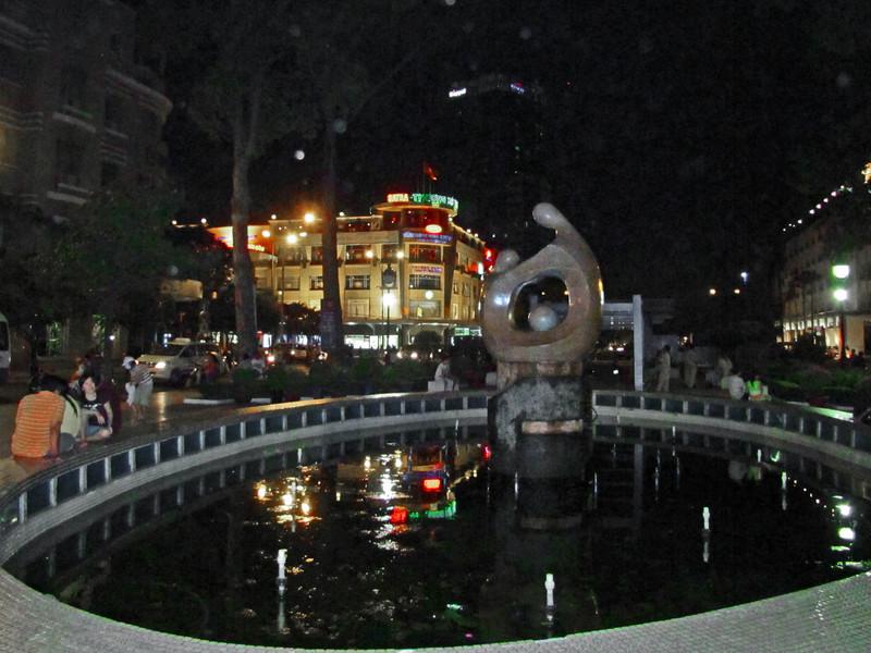 68-Sculpture between Performing Arts center and Nguyen Hue Circle