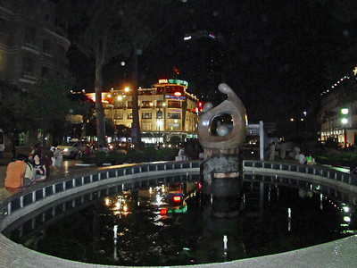 68-Sculpture between Performing Arts center and Nguyen Hue Circle