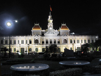 71-City Hall (Hôtel de Ville de Saigon) built 1902-1908 in French colonial style. Renamed 1975 as Ho Chi Minh City People's Committee.