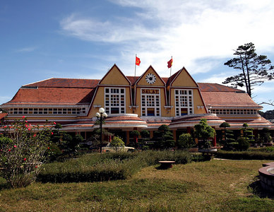 Dalat, VN. The Dalat Railway Station entrance