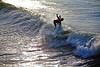 Riding the Swell at Avila Beach - VW Surfari - Photo by Pat Bonish